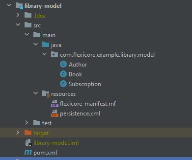 Library Model Project Structure